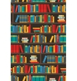 Book Shelves Dtcorative Colorful Icon Poster vector image