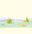 geometric nature landscape background vector image