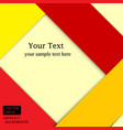 Red and yellow background banner wallpaper vector image