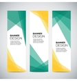 Banners with the abstract colorful geometric vector image vector image