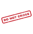 Do Not Cross Text Rubber Stamp vector image