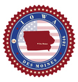 Label sticker cards of State Iowa USA vector image