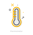 Thin line icons Thermometer vector image