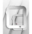 tablet modern paper design vector image vector image