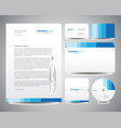 business stationery template vector image