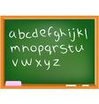 lower case chalkboard alphabet vector image vector image