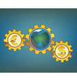 money driven world vector image vector image