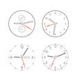 Modern digital watch dials vector image vector image