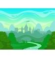 Seamless cartoon fantasy morning landscape vector image