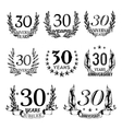 Anniversary emblems in sketch style vector image