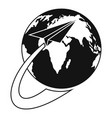 around the world icon simple style vector image