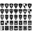 different coats of arms vector image