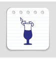 Doodle COCKTAIL icon vector image