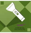 Flashlight Flat modern web button on a flat vector image