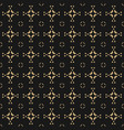 geometric ornament background black and gold vector image