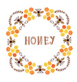 Honey label vintage style vector image