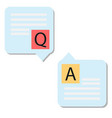 question answer icon on white background question vector image