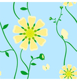 Yellow flowers vector image vector image
