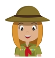 little scout character icon vector image