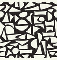 seamless hand drawn geometric pattern abstract vector image