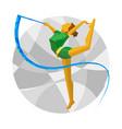 rhythmic gymnastics with ribbon vector image