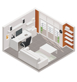 isometric working room icon vector image