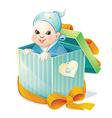 newborn boy vector image vector image