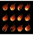 Colorful Fire Icon Set vector image