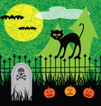 halloween black cat vector image