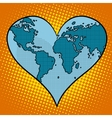 Heart earth planet vector image