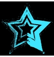 Blue Star Grunge vector image