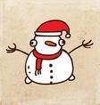 Happy Snowman Cartoon vector image