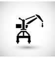 Harbor crane icon vector image