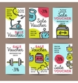 set of discount coupons for sport vector image