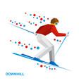skier running downhill vector image