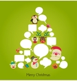 Christmas tree with cute speech bubbles vector image