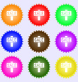Sale price tag icon sign Big set of colorful vector image