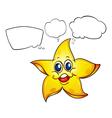 A thinking star vector image vector image