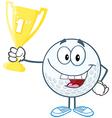 Golf tournament winner vector image