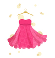 beautiful dress vector image vector image
