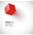 Red cube background vector image vector image