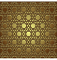golden seamless eastern ornament vector image vector image