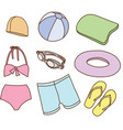 Accessories for swimming vector image