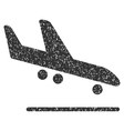 Airplane Arrival Icon Rubber Stamp vector image