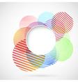Bright retro circle design element vector image