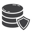 data protection glyph icon seo and development vector image