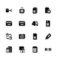 sim cards - flat icons vector image