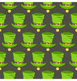St Patrick Day hat and gold seamless pattern vector image