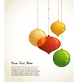 Elegant Christmas background with lights and xmas vector image vector image