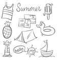 doodle of summer various object vector image